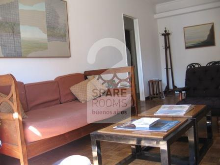 The living-room at the apartment in Recoleta