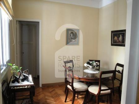 The dining room at the apartment in Recoleta