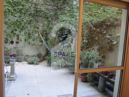 The patio at the apartment in Recoleta