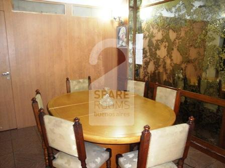 The dining room at the apartment in Palermo