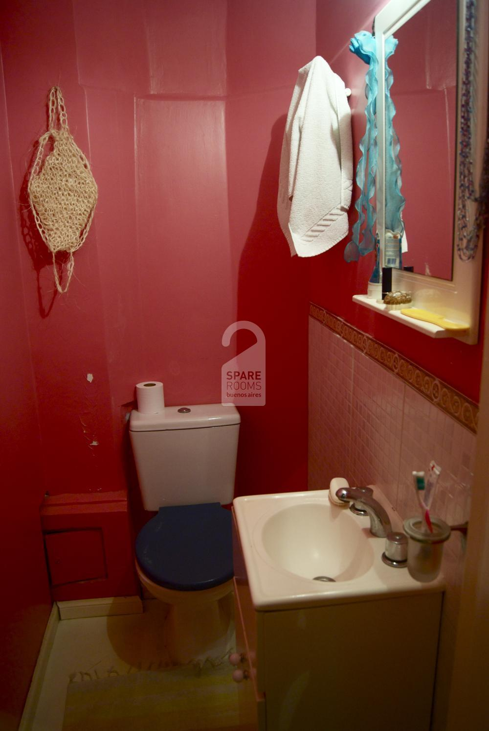 The second bathroom at the apartment in Balvanera