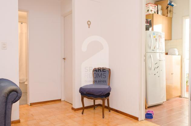 The entrance of the kitchen at the apartment in San Telmo.