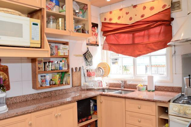 The cozy kitchen at the house in Almagro.