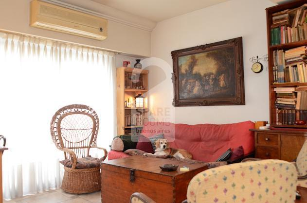 The cozy and comfortable living-room at the house in Almagro.