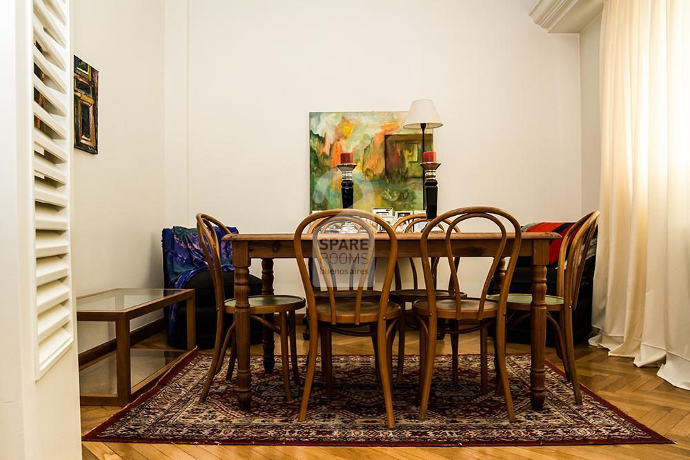 The dinning-room at the apartment in Belgrano