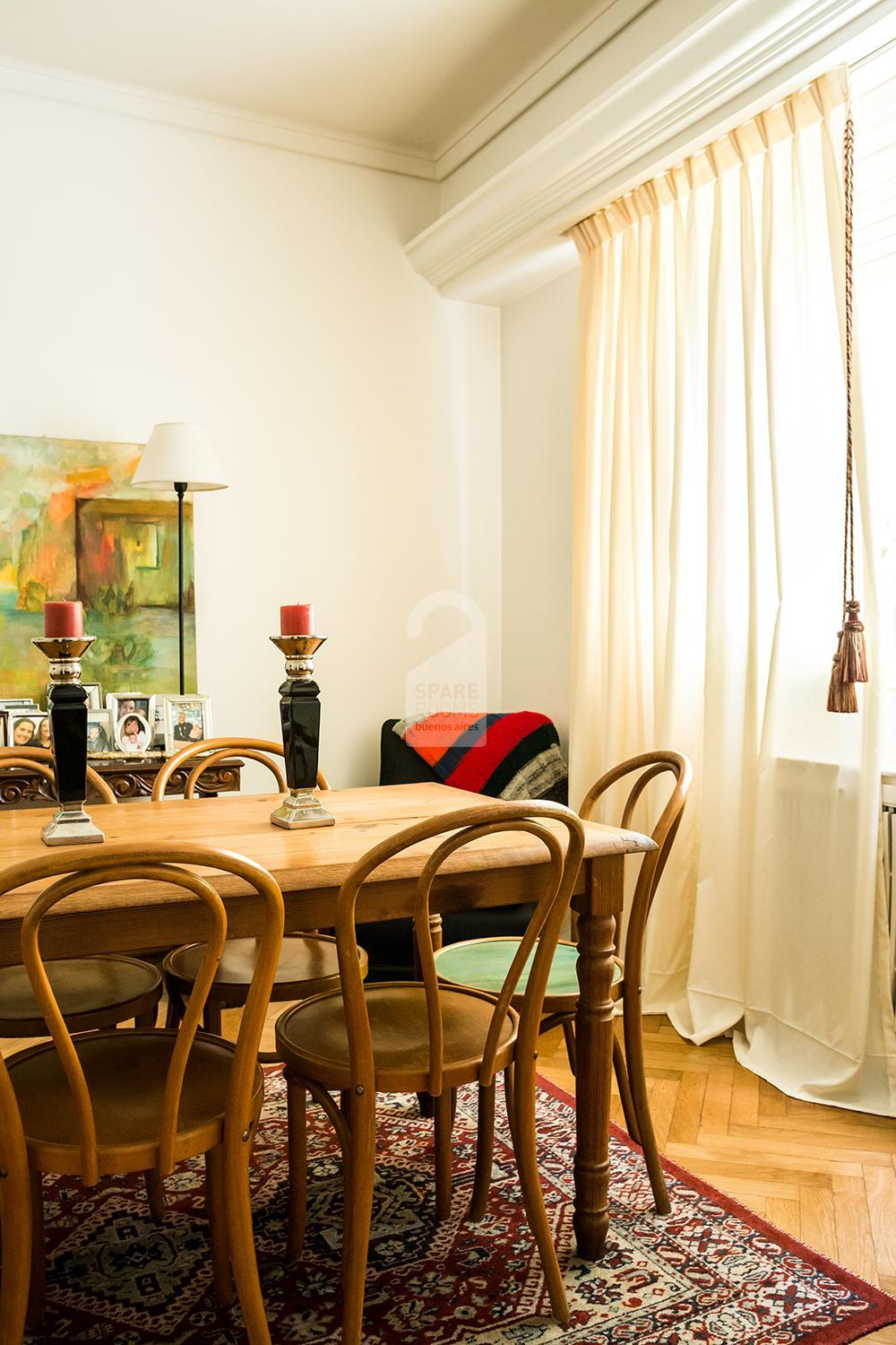 The dining-room at the apartment in Belgrano